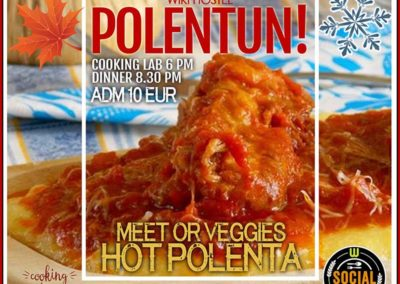 Polenta workout and social dinner